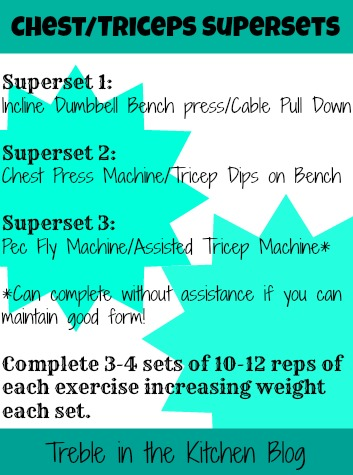 Arms and chest workout plan