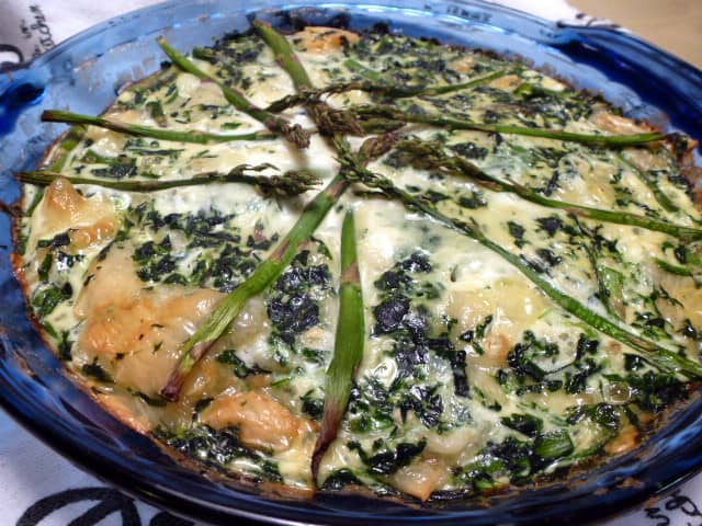 Spinach and Asparagus Quiche with Barley Crust - Treble in the Kitchen