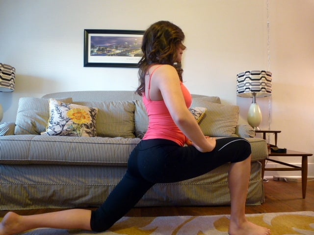 hip flexor stretch treble in the kitchen 2