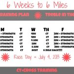 6 mile training plan