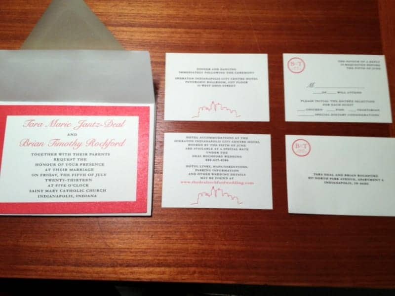 Deal Rochford Wedding Invitations