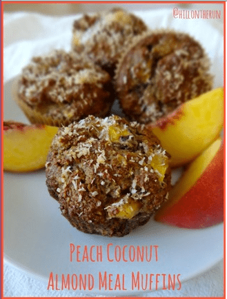 peach almond coconut muffins