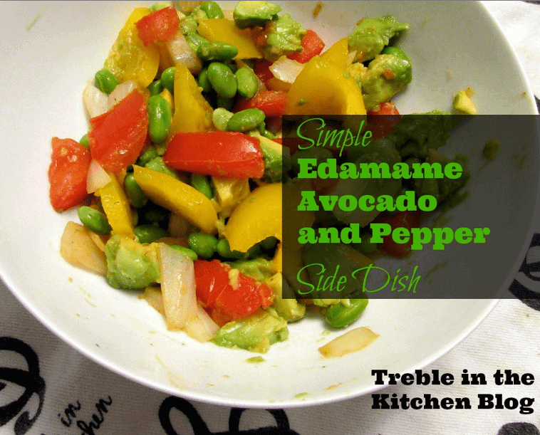 edamame avocado and pepper side disih