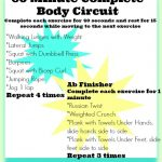 60 minute complete body circuit