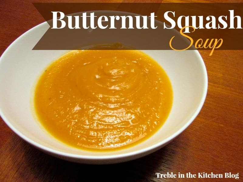 Butternut Squash Soup via Treble in the Kitchen blog