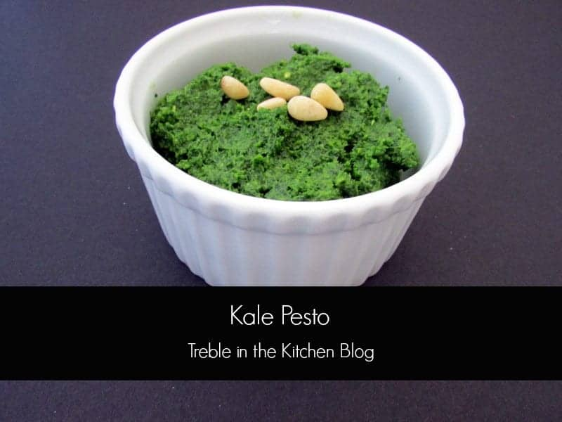 Kale Pesto via Treble in the Kitchen