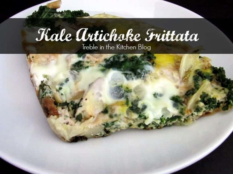 kale frittata via Treble in the Kitchen Blog