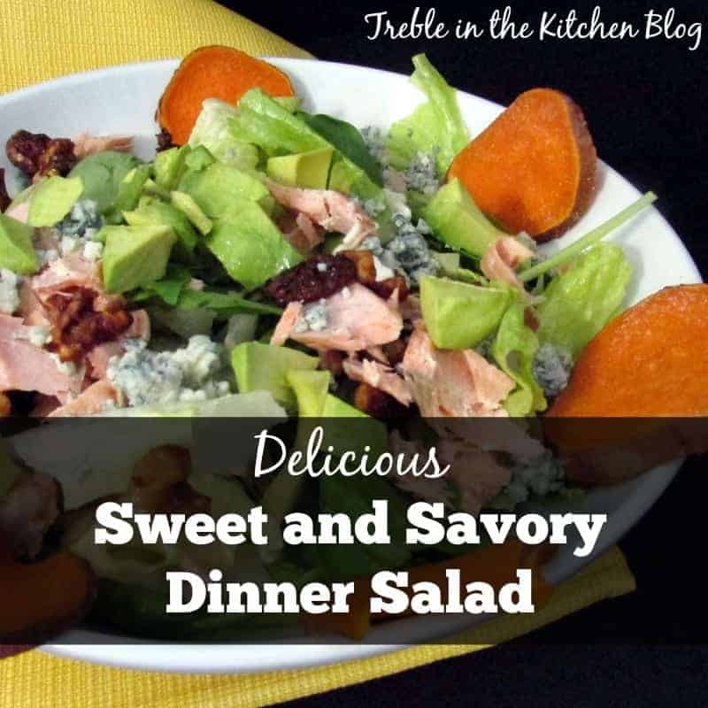 sweet and savory dinner salad via treble in the kitchen blog.jpg