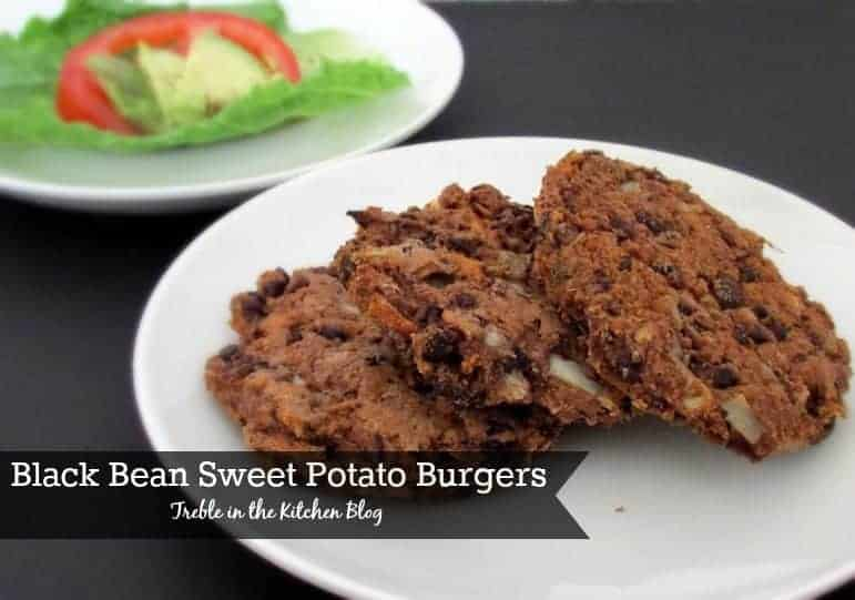 Sweet Potato Black Bean Burgers - Treble in the Kitchen