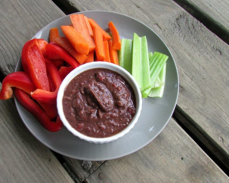 Clean and Simple Black Bean Dip via Treble in the Kitchen