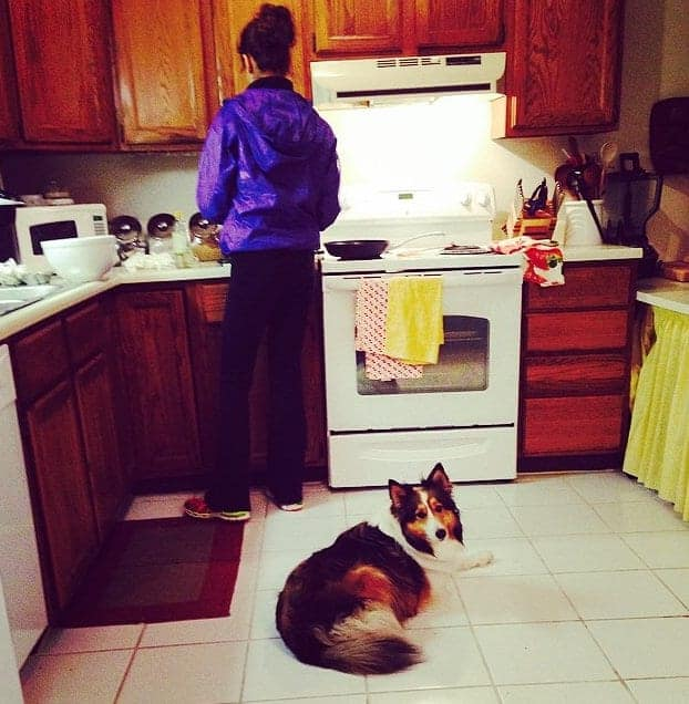 tara and wiley in the kitchen