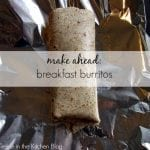make ahead breakfast burritos via treble in the kitchen