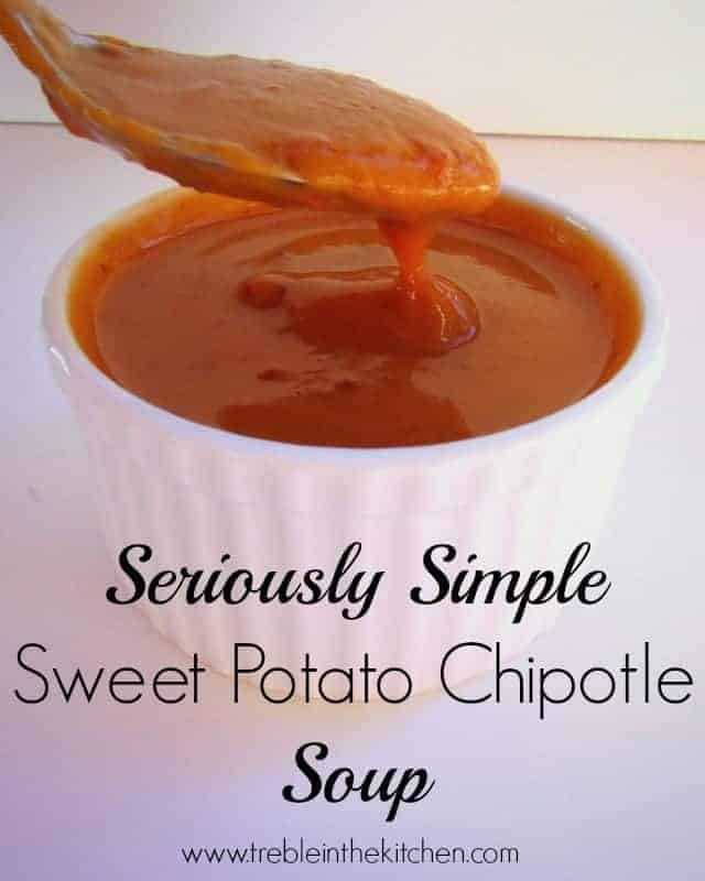 Seriously Simple Sweet Potato Chipotle Soup - Treble in ...