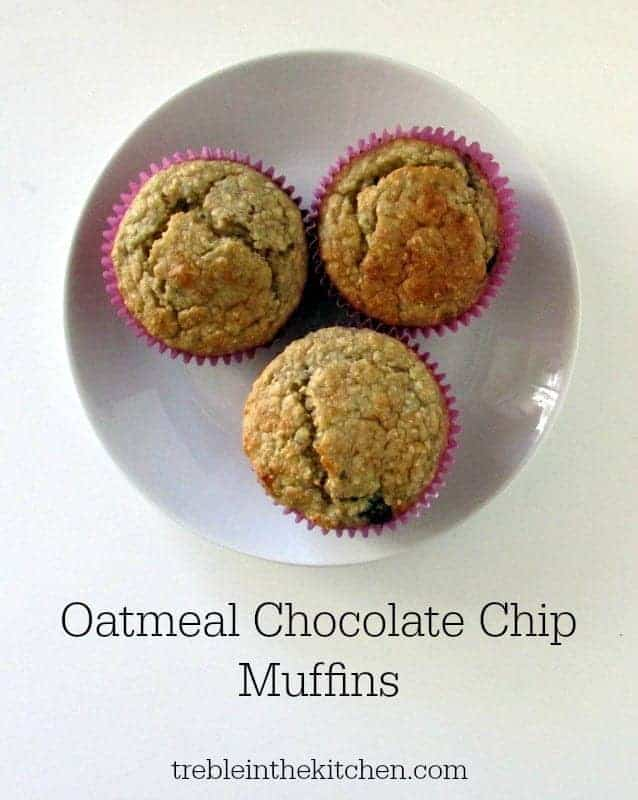 Oatmeal Chocolate Chip Muffins via Treble in the Kitchen # ...