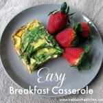 Easy Breakfast Casserole  Treble in the Kitchen gluten free, low fodmap, clean eating