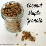 Coconut Maple Granola low FODMAP paleo friendly via Treble in the Kitchen