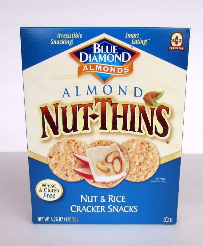 Blue Diamond Nut Thins via Treble in the Kitchen