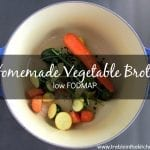 Homemade low FODMAP vegetable broth via Treble in the Kitchen