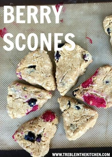 Berry Scones from Treble in the Kitchen