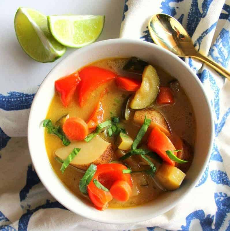 Thai Coconut Lime Soup Treble In The Kitchen